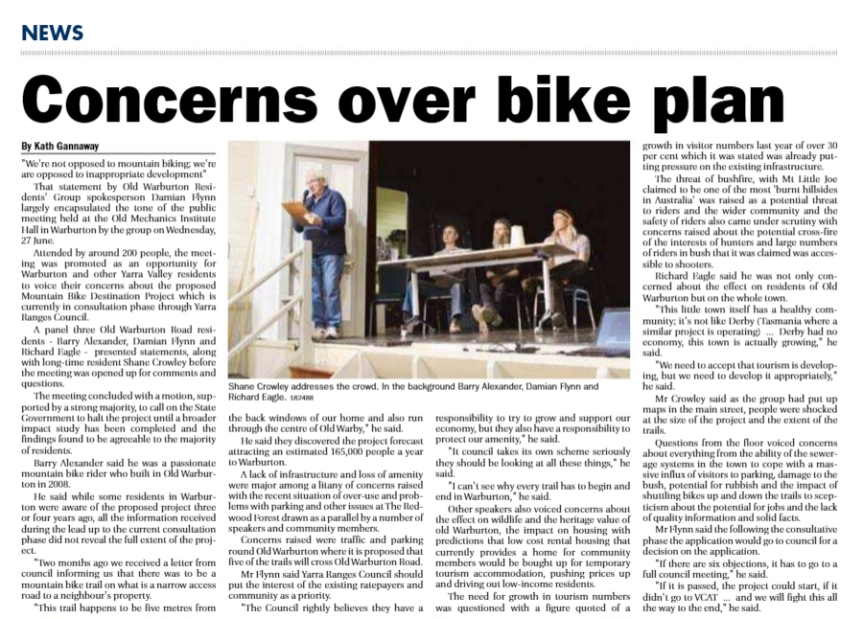 concerns over bike plan