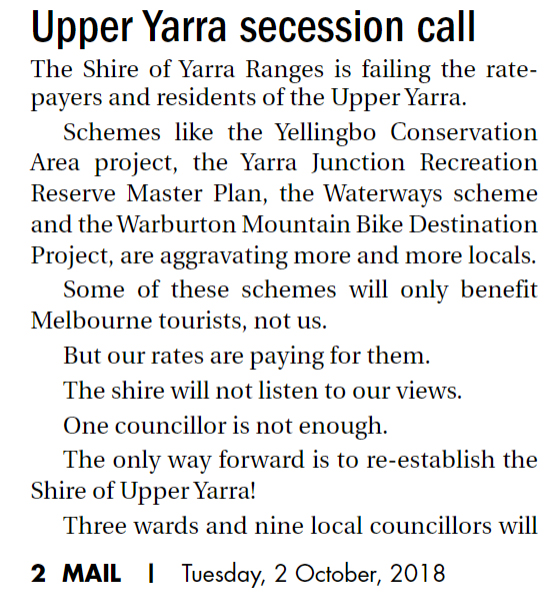 upper yarra secession1