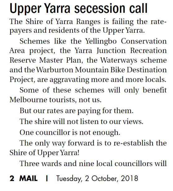 upper yarra secession1